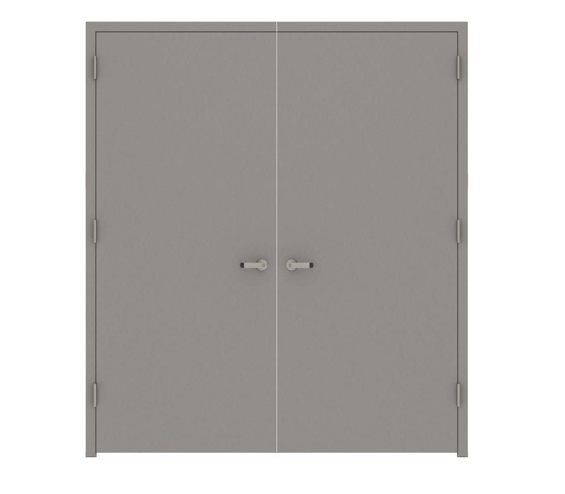 Double metal doors floors doors interior design for Double steel entry doors